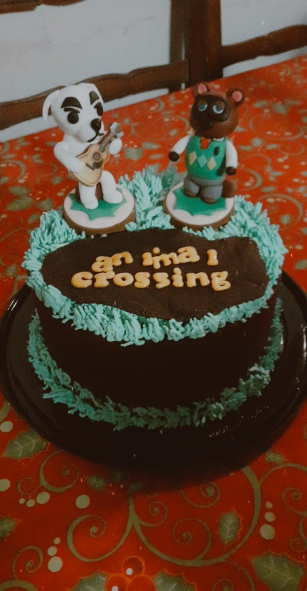 Mi Mami nos mando a hacer una torta temática para mi y mi hermana #AnimalCrossing #Cumpleañospic.twitter.com/yX9jwFdtPF