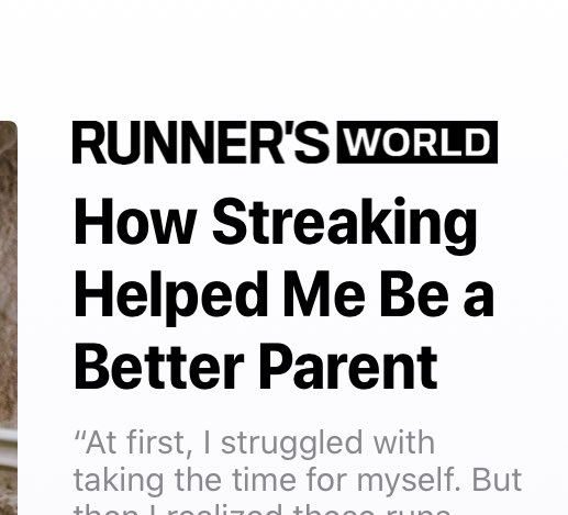 Non-runners must see these headlines and think WTF?