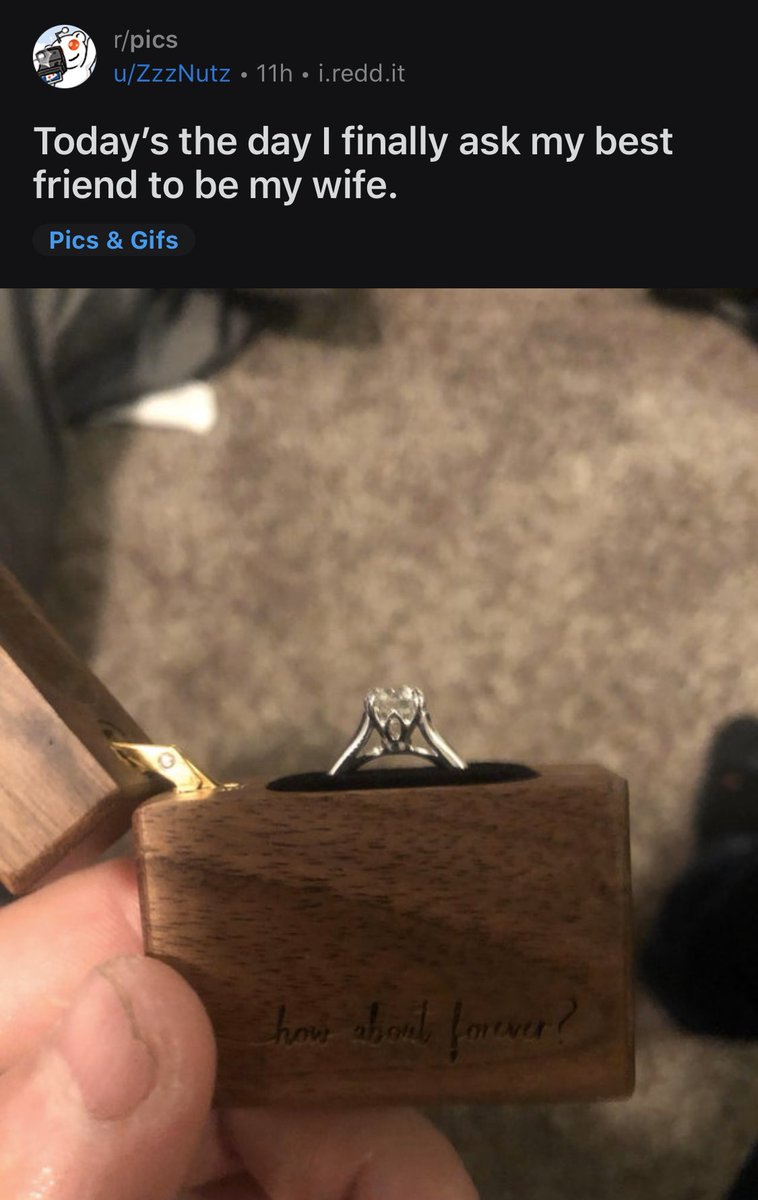 1. There are a lot of these today.  2. His girlfriend is going to be pissed when he proposes to his best friend and not her.  https://t.co/k7Zqbpwq4R https://t.co/VTWtjPtuUJ