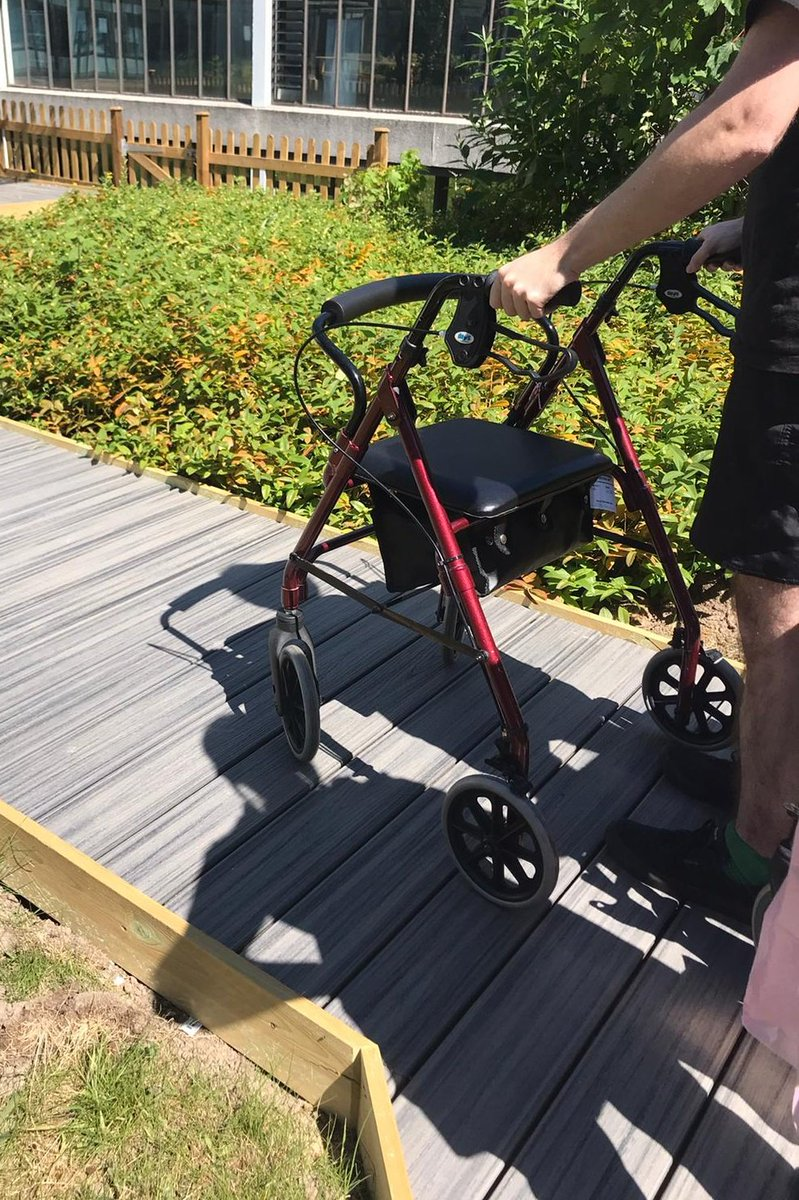 Yesterday we took our first patient out into our new Stroke Unit Garden for outdoor mobility practice and a bit of well-needed sunshine after a long inpatient stay #strokerehab #lovemyjob @BucksHealthcarepic.twitter.com/iOi6oFkI7j