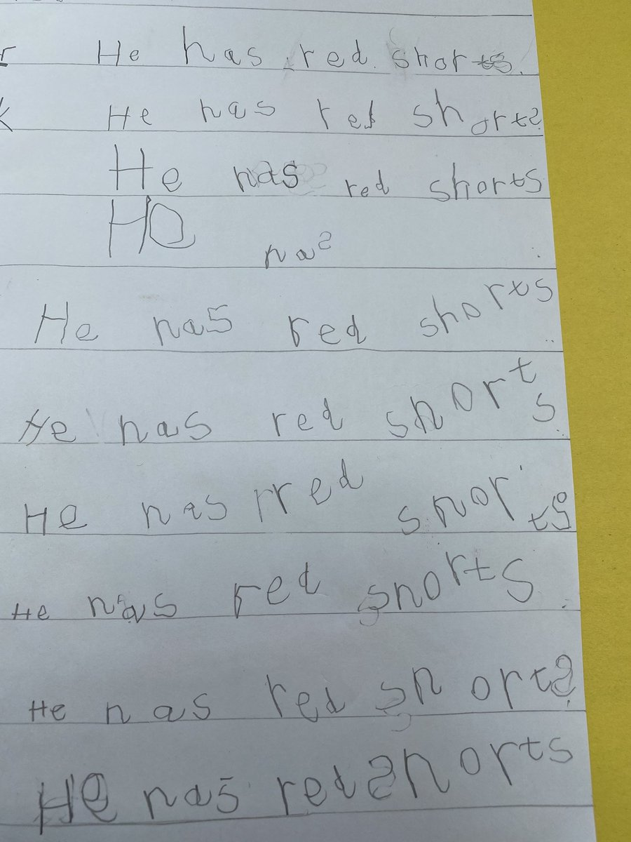 5-year-old's learning scrapbook has a touch of The Shining about it 😳😂