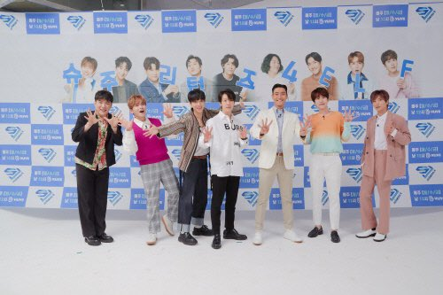 Legends of K-pop! Here are some press photos of Super Junior Leeteuk, Shindong & Donghae at their <SJ RETURNS 4> online press conference earlier! <br>http://pic.twitter.com/C3w6cCusOu