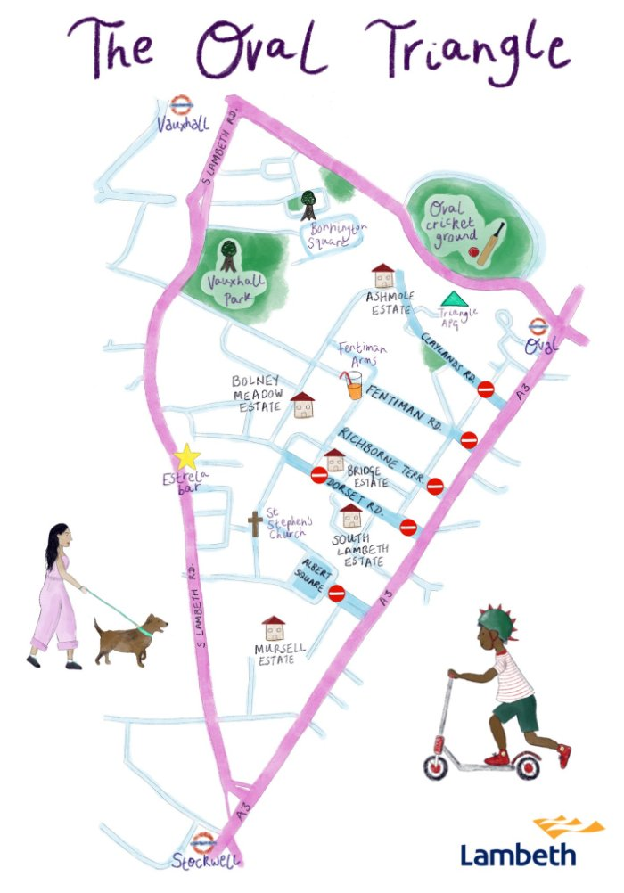 Friends, neighbours, people of #SouthLondon! @lambeth_council & @clairekholland are planning a low traffic neighbourhood for our community This means: Quieter, safer streets 🚸 🚲 Cleaner air 🍃 Whats not to like? Well, some people are unhappy 🤬 Why ⁉️