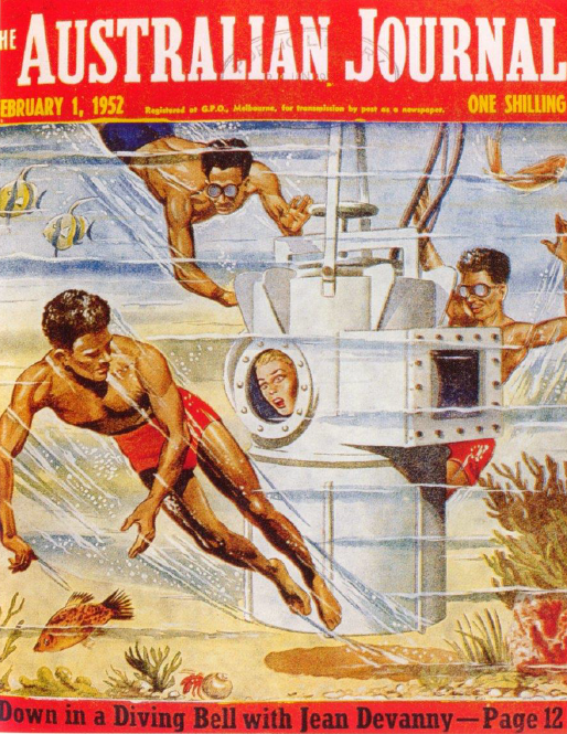 Hey! Question + favour: do you have (access to) a digital copy of Jean Devannys Down in a Diving Bell, Australian Journal Feb 1 1952, pp. 12-15? Ive been in pursuit, but pandemic is rendering my efforts vain. Thx 4 any help! Let this cover image, em, inspire you (?). #austlit