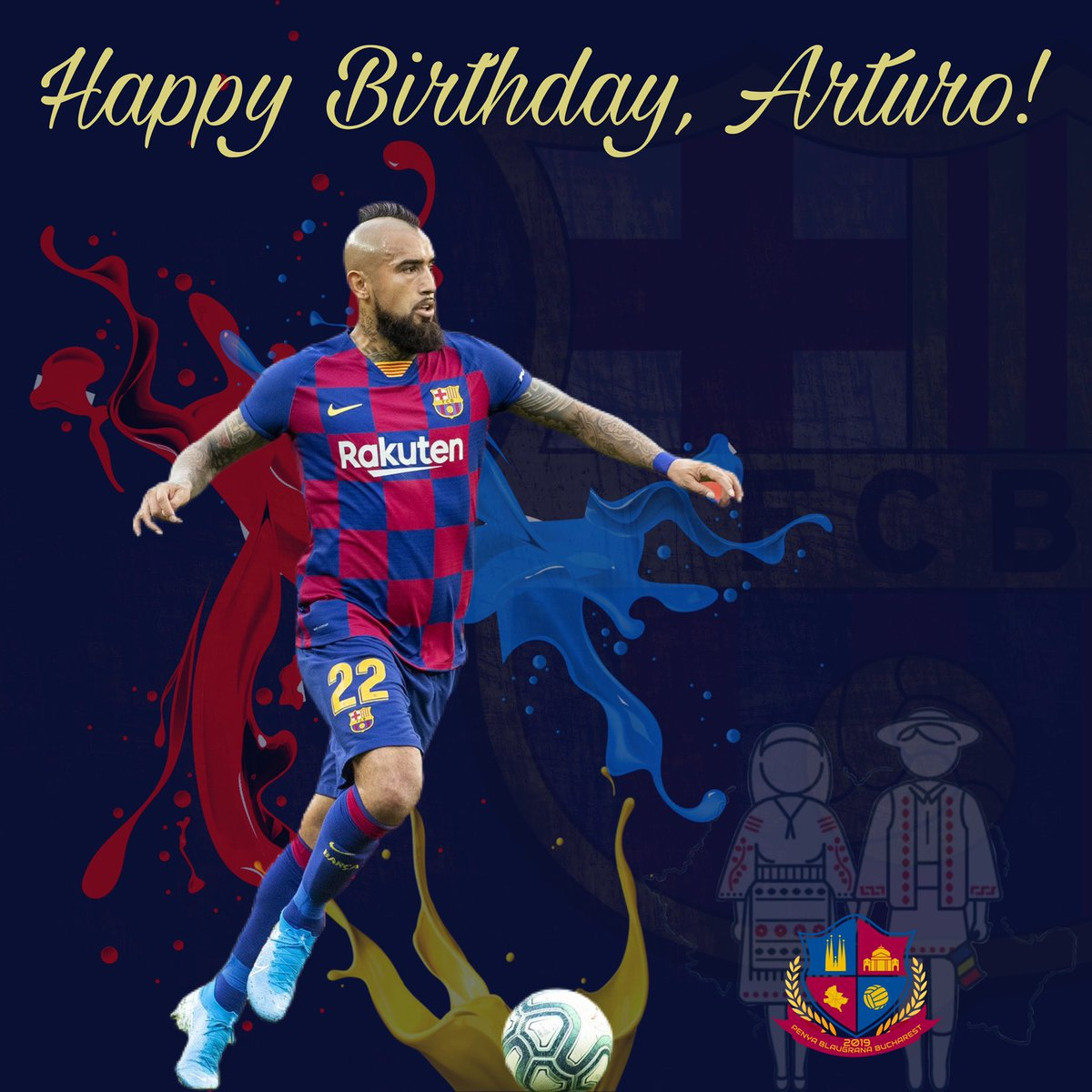 Happy birthday, @kingarturo23oficial   ¡Feliz cumpleaños!  Per molt anys! La Multi Ani! . . . #força #viscaelbarça #fcbarcelona #forçabarça #forçabarça #blaugrana #barça #fcbarcelonafans #cule #cules #barçafans #culé #culés #penya #penyabucharest #happybirthdaypic.twitter.com/ujqEnxPQIi