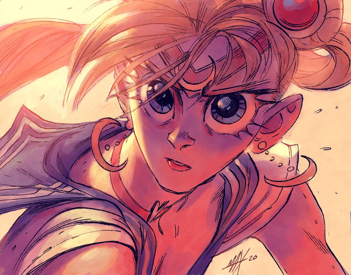 I painted this live on YouTube tonight! You should subscribe to me because 5 out of 7 of my closest friends tell me they love my channel. And because I'll do more streams if you tune in. Plus I finally contributed to the collective unconscious #sailormoonredraw.