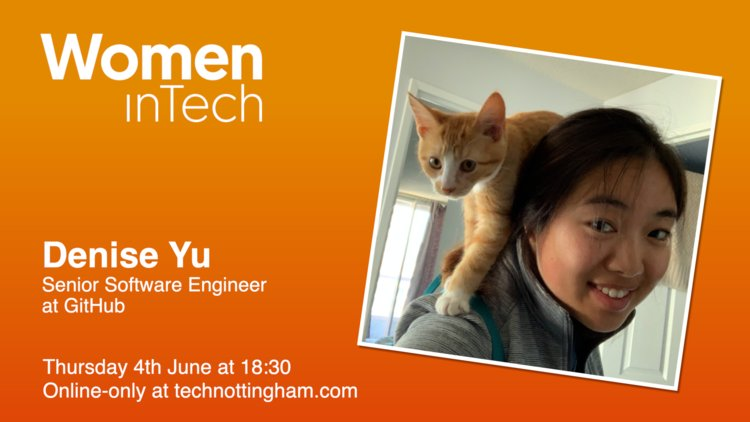 Happy Friday all 🎉  Did you see @technottingham drop our new season launch yesterday?!?? 🔥  First up we have @deniseyu21 joining us talking about Site Reliability and Cats!! Plus she'll be teaching us doodling!! 🐈✏️🧡  Details 👉 https://t.co/9VxHW5HqSq https://t.co/PDctbPKGrN