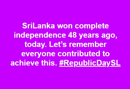 #RepublicDaySL  #lka #sriLanka #SriLankanPolitics #Colombo @ApiWenuwen @nirowa74 @ReflectMindpic.twitter.com/0TnaUglFC2