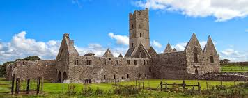22 May: Feast of 7 sons of Eodus of Maigin; a relatively common placename usually anglicised as Moyne (@PeritiaEditors). #Moyne Abbey, Co #Mayo. St Patrick founded church c 440? Abbey founded pre 1455 by McWilliam Bourke family. Burnt by Elizabeth I's governor; reformation. pic.twitter.com/B65vrMWVmR