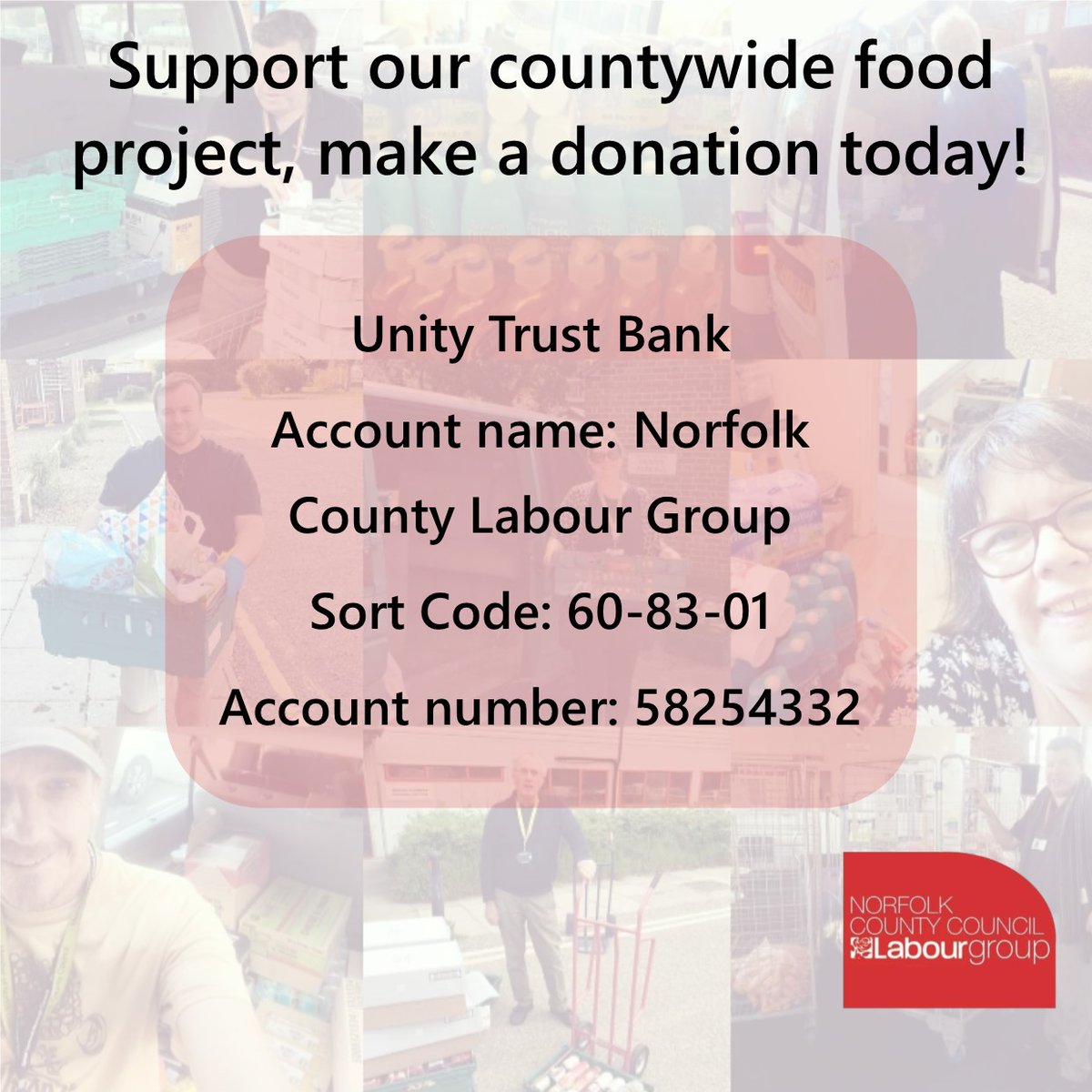 You can donate to support #foodoutfriday getting over a tonne of food a week across norfolk wherever it is needed twitter.com/NorfolkLabourC…