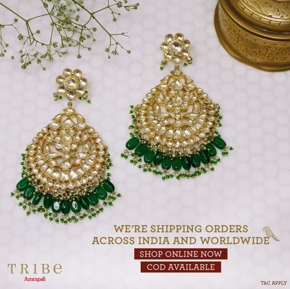 We're happy to announce that we are once again shipping all over India and worldwide in all non-containment zones. Get your hands on handcrafted pieces by prepaid or cash on delivery orders.   #TribeAmrapali #Jewellery #JewelleryLove  #DeliveriesNowOpen #DeliveringAllOverpic.twitter.com/VfubSkgnWD