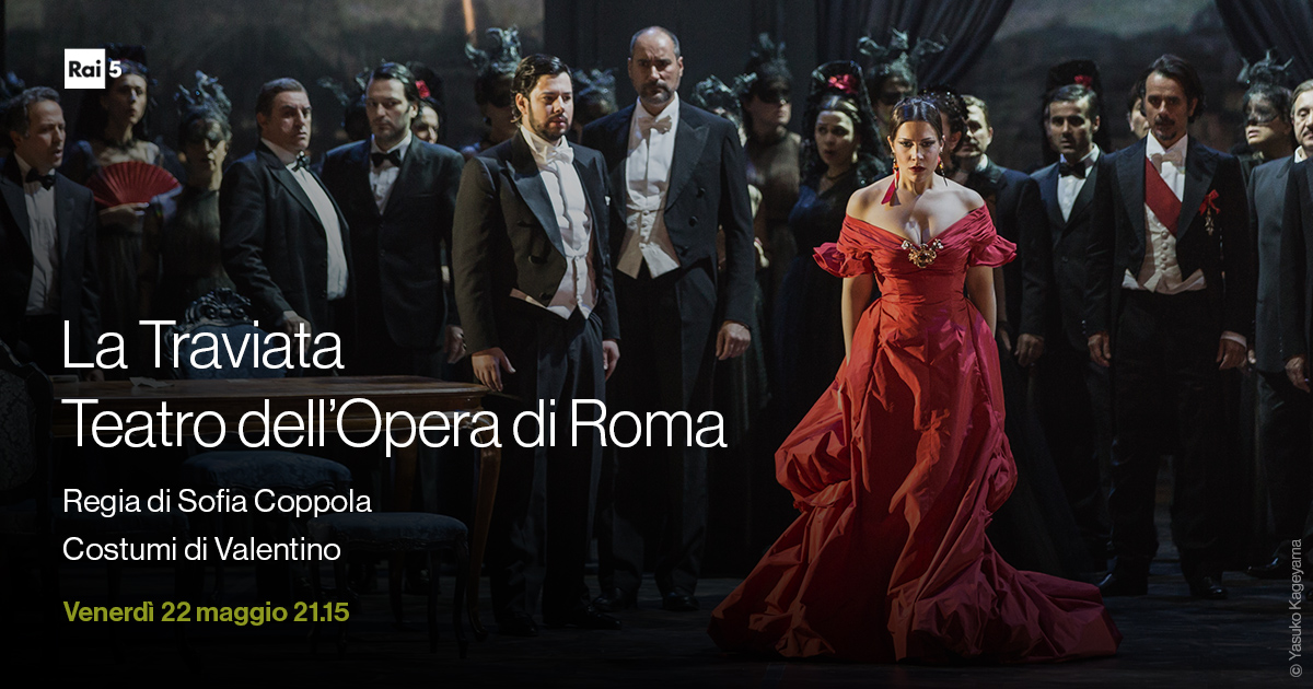 La #Traviata di Verdi nell'edizione del 2016 in scena a @OperaRoma sarà riproposta venerdì #22maggio alle 21.15 su #Rai5.  Interrotta a causa di un problema tecnico, andrà in onda oggi in prima serata con audio ripristinato. Ci scusiamo per il disservizio. https://t.co/GztquzoBSZ