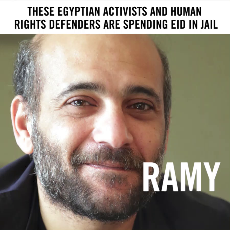 These activists and human rights defenders are spending #Eid in jail away from their families, only because they dared to speak up for human rights in #Egypt. And there are many more.