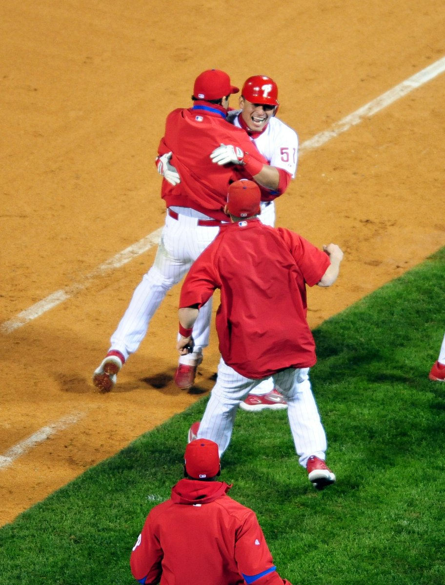 "The full replay of the Carlos Ruiz ""Big Little hit"" game, Game 3 of the 2008 World Series, is airing #On94WIP right now! @Phillies   Download the @Radiodotcom app to listen.   https://t.co/gkUilhZvnU https://t.co/vghmYhC4Y1"