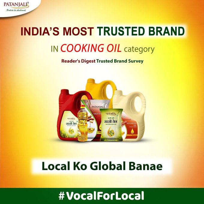 Patanjali oils are one of the healthiest cooking oils to use. Made with refining process, Patanjali cooking oil gives you nutrition for a strong immune system and a healthy heart. #PatanjaliProducts #EdibleOil #VocalForLocal  IMAGES, GIF, ANIMATED GIF, WALLPAPER, STICKER FOR WHATSAPP & FACEBOOK