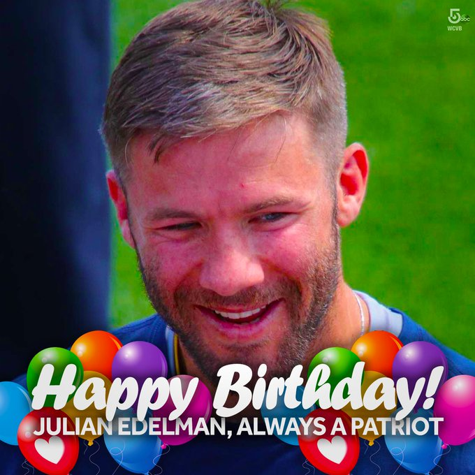 Happy birthday to No. 11! Julian Edelman turns 34 today.