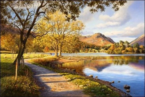 'Serenity by Grasmere'    Fine Art print by Paul Harley.   I found this at the Cookhouse Gallery site on Instagram.  Back after Siesta. 😊😴 https://t.co/LldB3Eb5Fs
