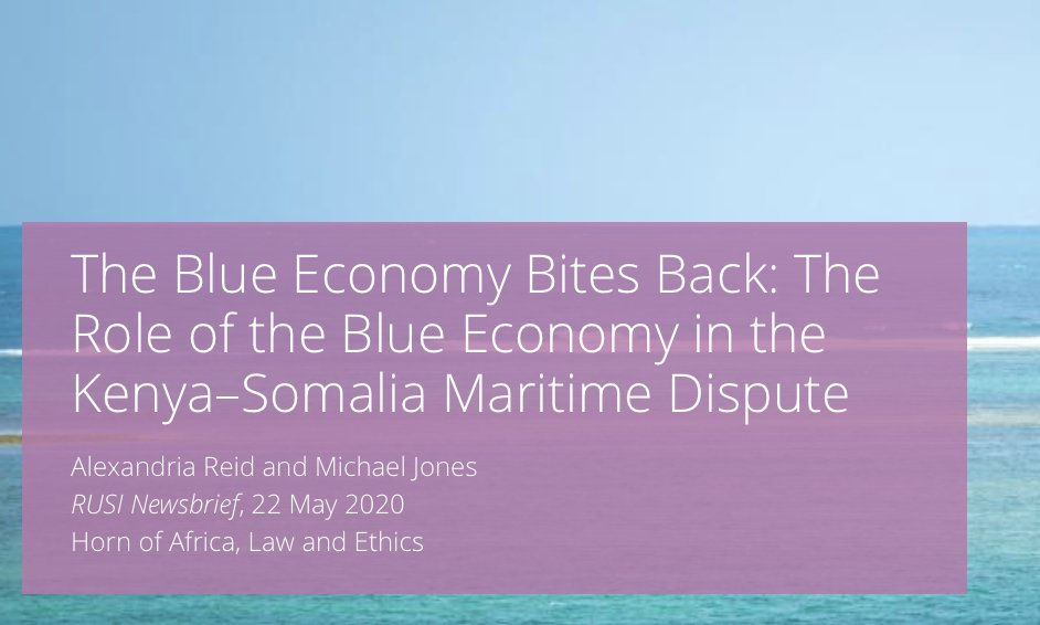 What are the security consequences of the #BlueEconomy narrative? Michael Jones and I explore via the now thrice delayed Kenya-Somalia maritime border dispute at the #ICJ.   DM me for access: https://t.co/ql4AsCzLS5 https://t.co/JU5YwsyOxZ