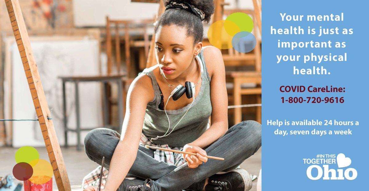 1-800-720-9616: we're here to help. #InThisTogetherOhio