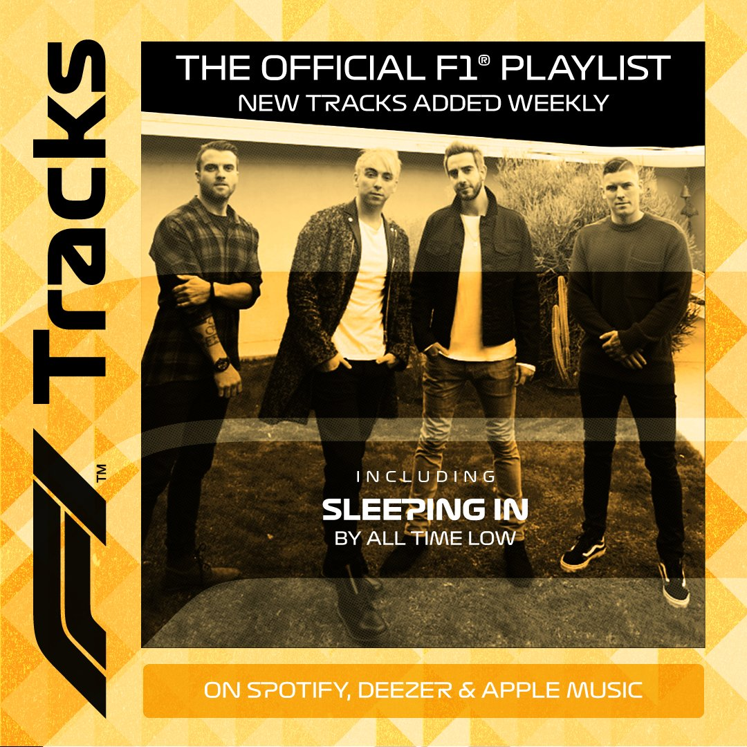US rockers @AllTimeLow take the wheel on F1 Tracks this weekend 🤘  Stream now on @Spotify 👉 https://t.co/RDeL6DdNdK   #NewMusicFriday #F1Tracks https://t.co/qK7o42rvyb