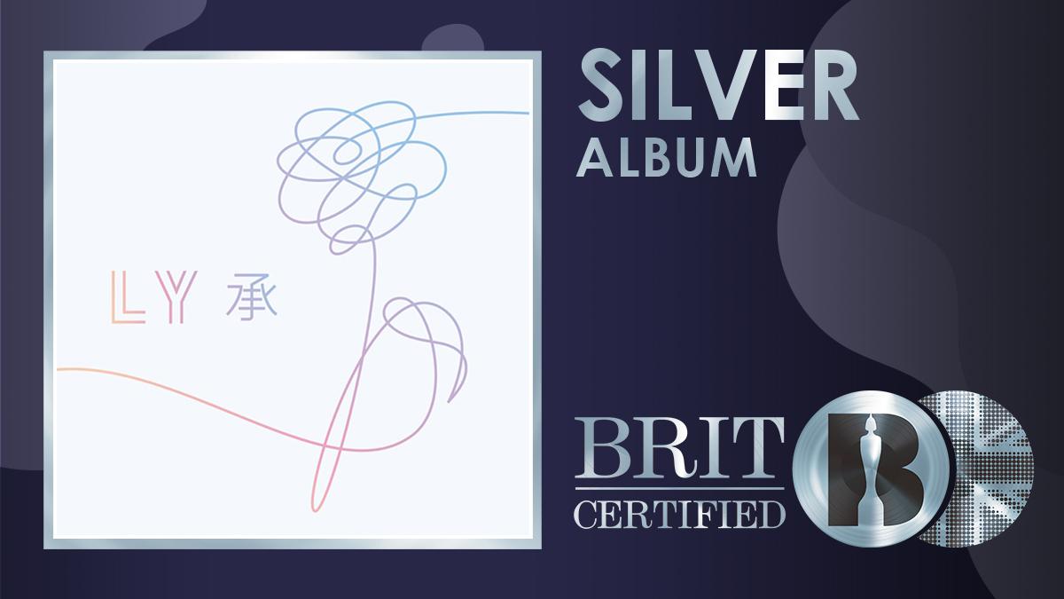💖 @BTS_twt's 2017 release 'Love Yourself: Her' has gone #BRITcertified Silver! 💿 https://t.co/nqDBTpMU3S