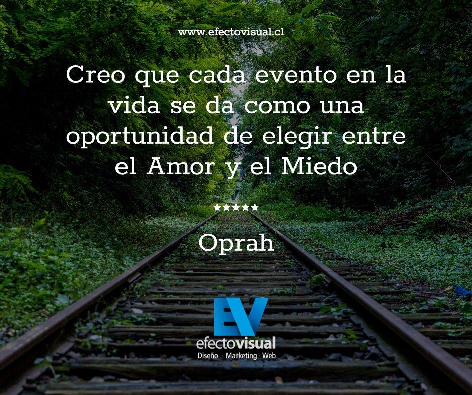 Hola a tod@s! hoy nos sentimos inspirados por Oprah. Hace eso que te apasiona y no te dejes llevar por la negatividad, ya le diste la oportunidad a esa idea?  * #efectovisual #frasesmotivacionales