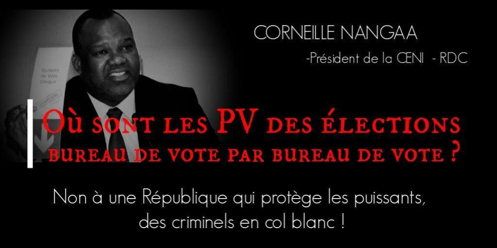 #RDC: personne ignore q Mr #Nanga est l haut soutien d l'enfer et d la continuité q ns vivons aujourd'hui pr la voie électorale du 30/12/2018.ls sangs d nos frs cries .Mr nanga où snt ls PV des élections du 30/12/2018? https://t.co/TREQxXi2ur