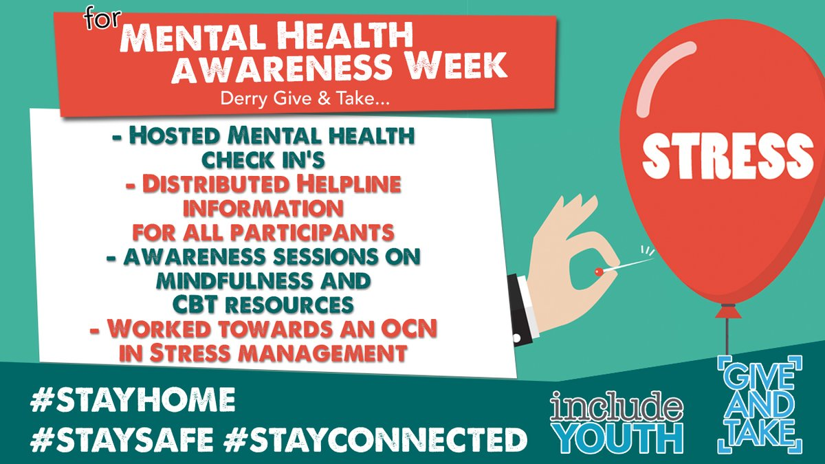 As part of #MentalHealthAwarenessWeek Give & Take Derry have been busy!! Heres what they got up to this week. #stayhome #staysafe #stayconnected @WesternHSCTrust @EsmeeFairbairn @TNLComFundNI @Economy_NI @Ed_Authority #esf