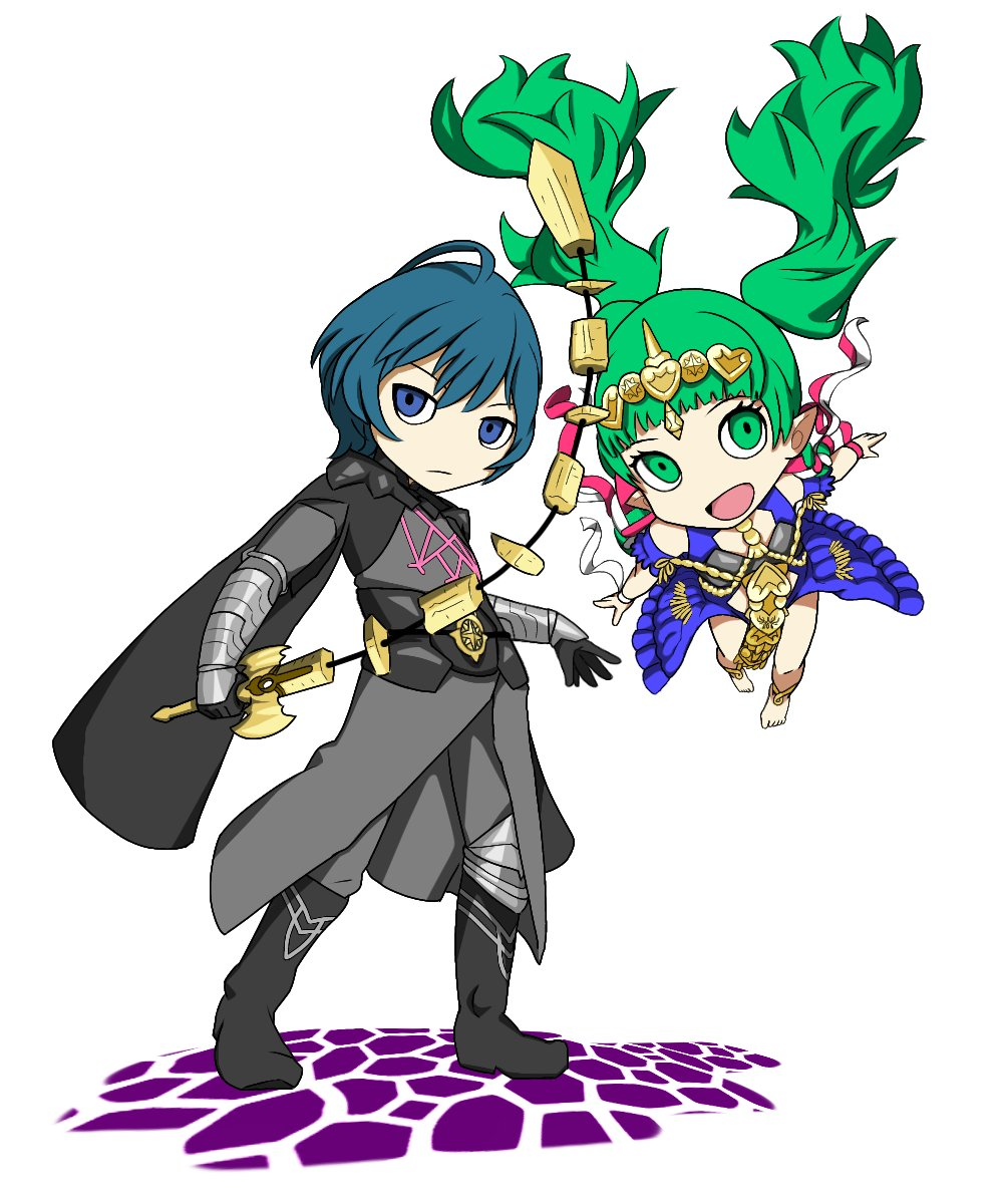 Persona Q2 style Byleth & Sothis #Persona5 #FireEmblemThreeHouses <br>http://pic.twitter.com/dqkJGBBWp2