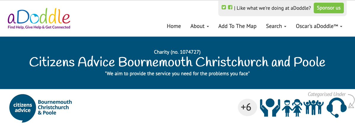 Citizens Advice #Bournemouth, #Christchurch or #Poole, Citizens Advice BCP, aims to provide the service you need for the problems you face Find out more  https:// adoddle.org/projects/3789/ citizens-advice-bournemouth-christchurch-and-poole#overview  …  #BetterTogether #PeopleHelpingPeople<br>http://pic.twitter.com/5rEg3li3QI