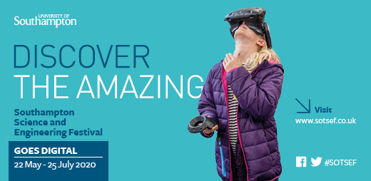 📢SOTSEF Goes Digital is live! The @unisouthampton Science and Engineering Festival is back with a #digital twist. Join us to discover, create, discuss, connect & get inspired! New activities will be released through the weeks. Visit  & follow #SOTSEF🌈