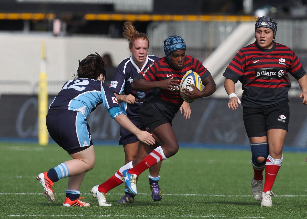 In 2014 we becamefirst women's side to play alongside their male Premiership counterparts on a state of the art, artificial turf pitch #TogetherSaracens #FlashbackFriday