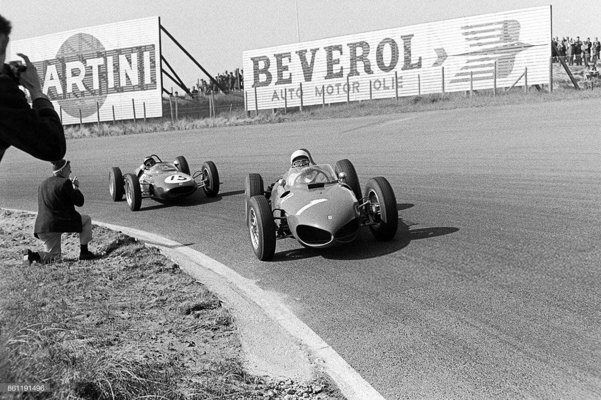 #1 Phil Hill & #15 Jim Clark @ Zandvoort, 1961. https://t.co/zSYWbIQKin