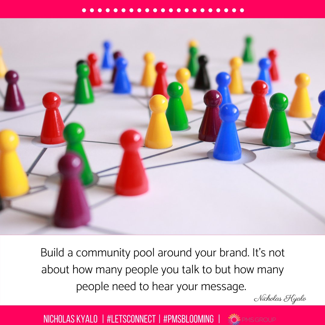 Most businesses will use social media as a market tool with little consideration of building a community around their brand. If you want to have a better return on investment through social platforms, you need to specifically target your customer.  #LetsConnect #MarketingDigital pic.twitter.com/nnLbzUZHil