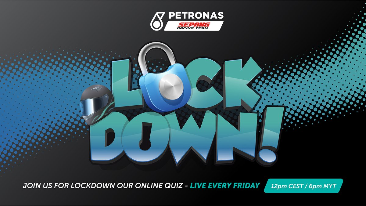 Here's your one hour reminder that LOCKDOWN #5 will feature @khairulidham89, @zulfahmi_63 and @sepangcircuit CEO Azhan Shafriman Hanif! Make sure you tune in LIVE on our Facebook page today at 12pm CEST / 6pm MYT  #PETRONASmotorsports | #MotoGP | #KIP89 | #Moto3 https://t.co/1WgGUwaYlA