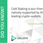 Image for the Tweet beginning: Cold Staking is a new