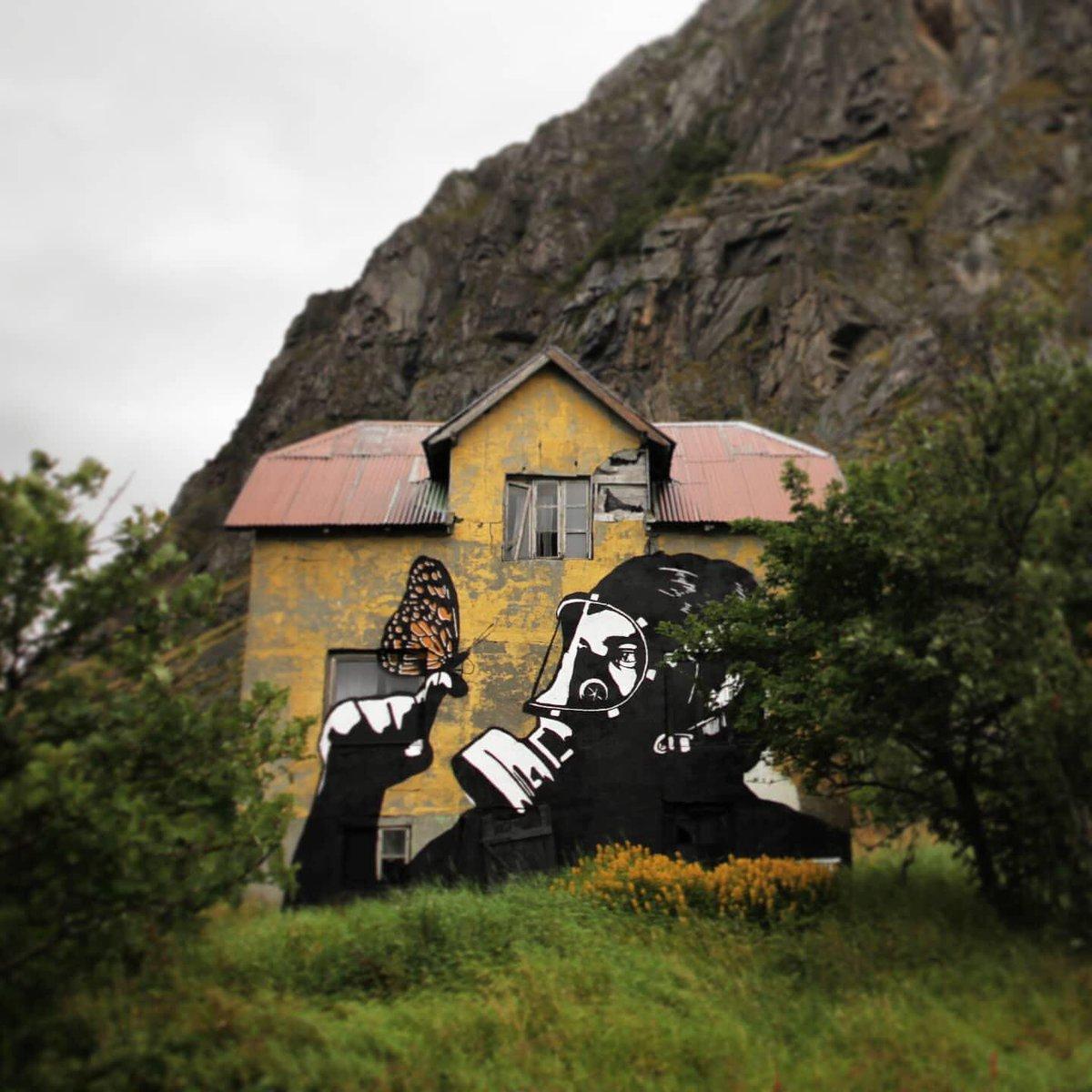 ... beauty is the only salvation, look for it always and everywhere. Art by Pøbel in Lofoten, Norway #StreetArt #Art #beauty #Butterfly #Coronavirus #Salvation #Graffiti #Mural #UrbanArtpic.twitter.com/2BMXjhX6Ha