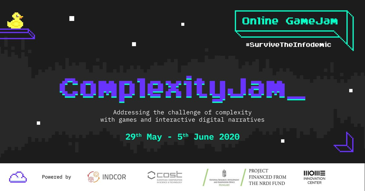 !!! DO NOT MISS THIS JAM !!! BUG Lab is proud to be partners in crime with these prestigious schools running this very special event: Complexity Jam! 😎👇 #evdekaloyunyap #survivetheinfodemic  https://t.co/z4YtP8jbPn https://t.co/fwXGZhgpB9