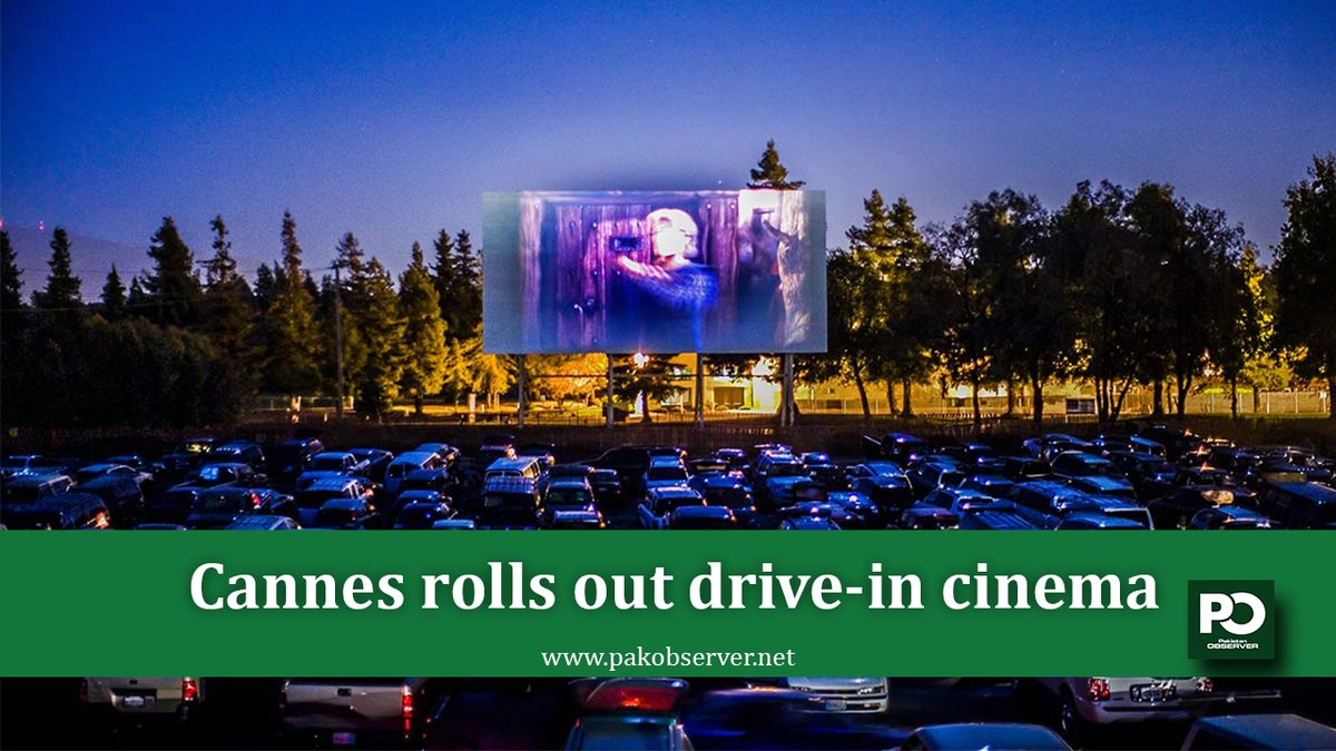 With its annual film festival postponed and the red carpet rolled up, locals made do with a drive-in cinema in a beachfront car park. #Cannes #DriveInCinema #PakistanObserver #BeachFrontCarPark #MediterraneanCoast pic.twitter.com/R4UAxKe3YC