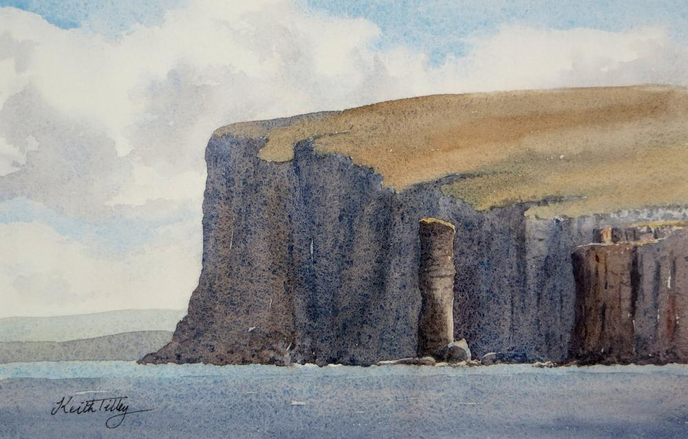 The Old Man of Hoy - watercolour, 16 x 26 cm #watercolorpainting #seascape #Scotland #Orkneypic.twitter.com/xAE1yMkJFi