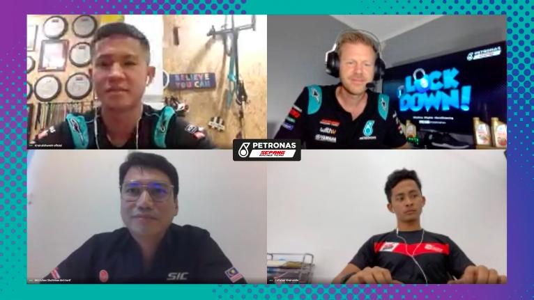 ⚠️We're live now!⚠️  Head to https://t.co/xmbiquVSAQ to watch KIP, Fahmi and Azhan Shafriman take on LOCKDOWN!   #MotoGP | #PETRONASmotorsports | #SepangRacingTeam | #KIP89 | https://t.co/zW0Whk6eg6