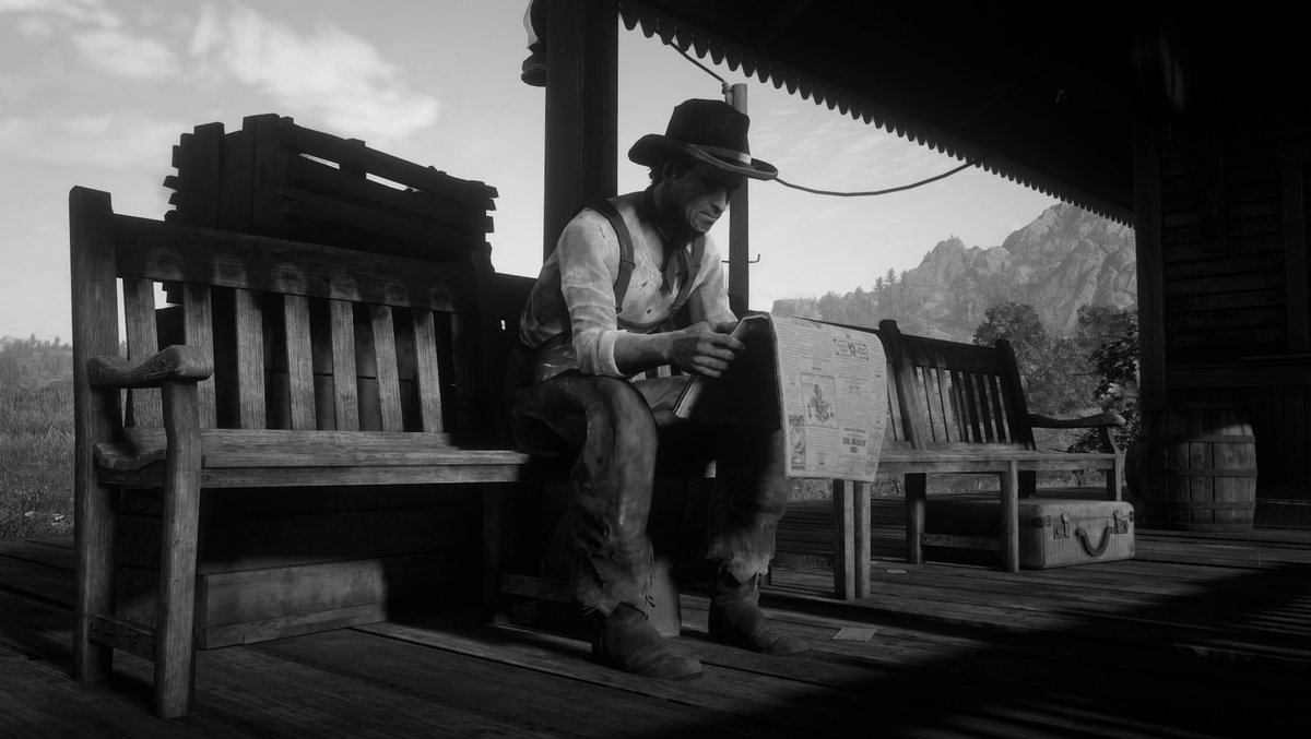 Day 5 for #docuVP  A moment of rest  #RDR2 #RDR2Photomode #VirtualPhotography #VGPUnite #DocumentaryPhotography pic.twitter.com/e3J6S2qB5N