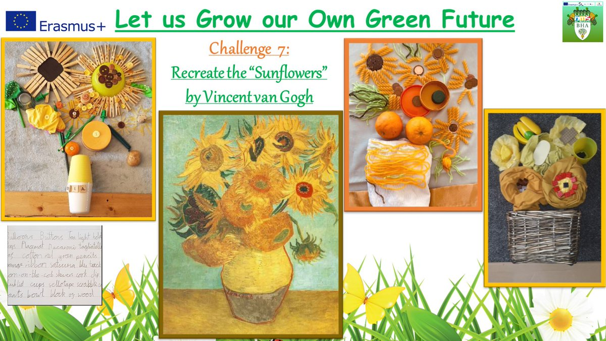 Fantastic entries to our #ErasmusAtHome challenge to recreate the #Sunflowers by Vincent van Gogh!  Working with our partner school in #Austria to 'Let Us Grow Our Own Green Future' @BredonHAcademy .  #CultureConnectsUs #VincentvanGogh #Österreich pic.twitter.com/e3mmKsKBMt