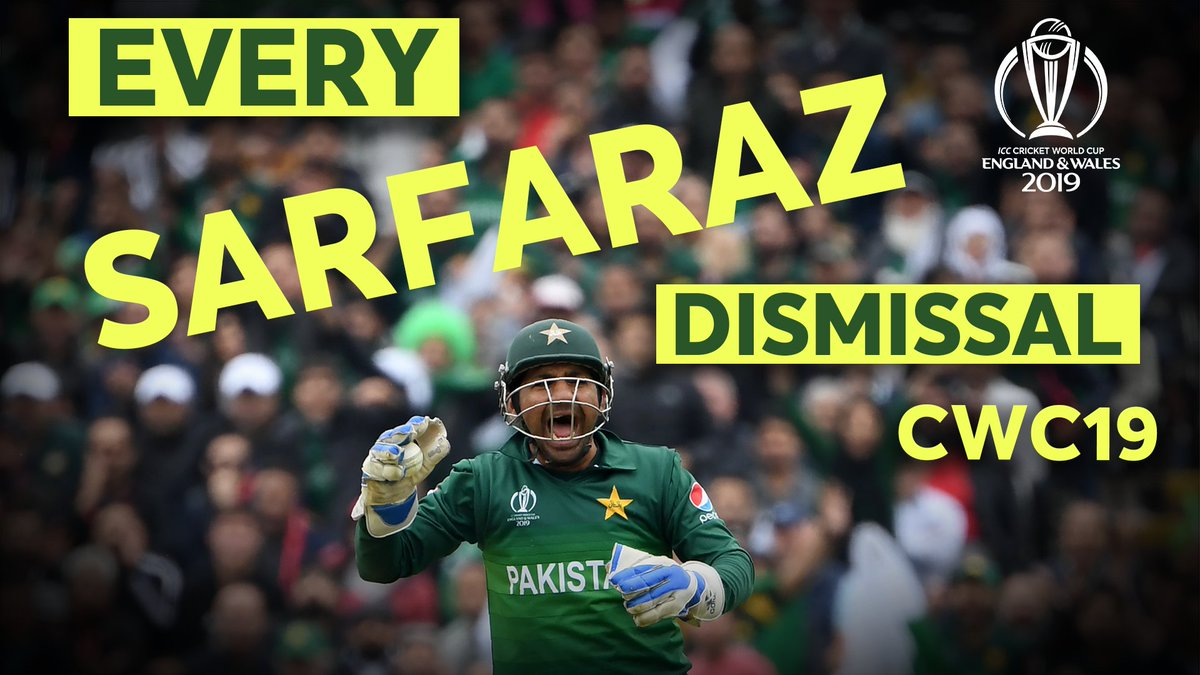 🧤@SarfarazA_54 🤩  #CWC19 Dismissals by Kaptaan !!   https://t.co/kzemh2PsxV