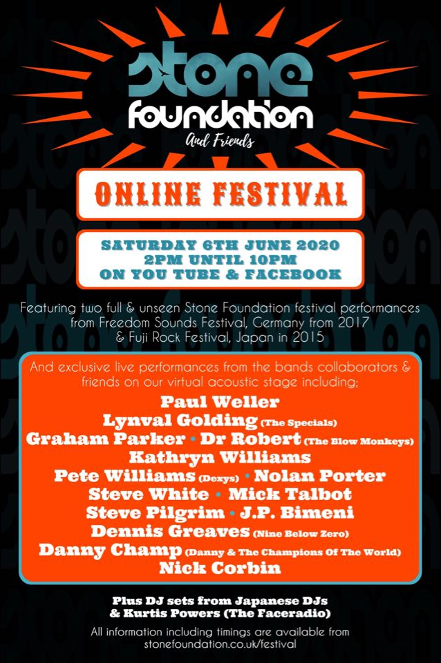 Given that so many festivals and summer events have been cancelled this year, we are delighted to announce the first ever Stone Foundation Online Festival!  Full details here: https://t.co/pWaP4W94VU https://t.co/XSBurdgLXT