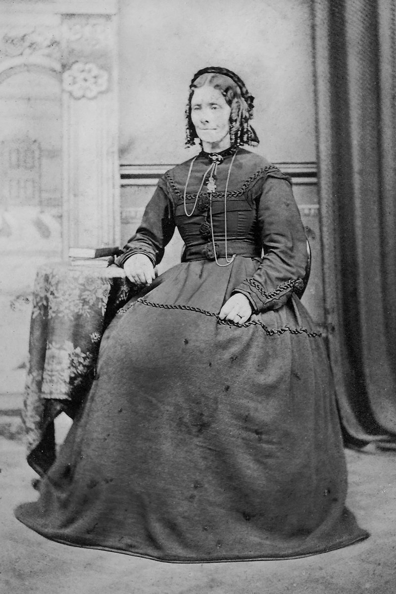 """I would like to say """"Gone, but not forgotten"""", but I don't who she is. Not easy sitting still for a 10 - 20 sec exposure @Britanniacomms #oldphotograph #victorian #history #fashionpic.twitter.com/Zi6QFZqxO6"""