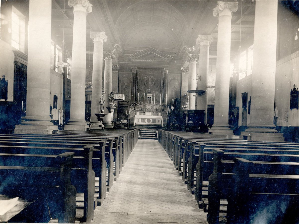 This is the oldest picture we have of St Patrick's, from 1921, the 50th anniversary of the founding of the parish (1871). The church was built from 1877. And a drawing from the original architect, Francis Tasker. If anyone has any old pictures, please do email them to the parish. https://t.co/yHAV5JWQNj
