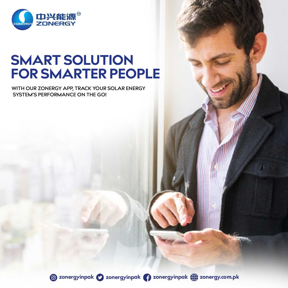 Zonergy is growing smarter being surrounded by smart people just like you. With Zonergy mobile app, you can monitor your solar's performance in real-time.  #zonergy #solarenergy #smartsolution #solarpanels pic.twitter.com/s6J1cd8G7i