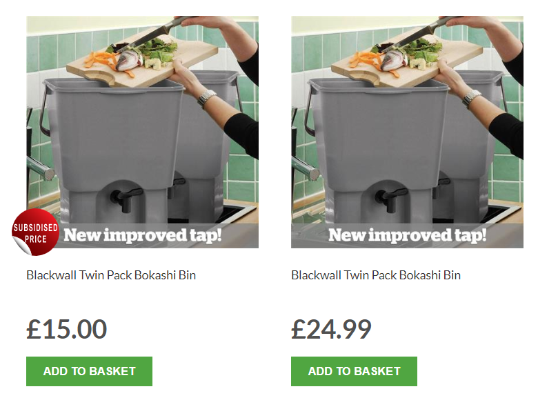 @JustinB11698455 Hi Justin, there should be two options - one for £15. If you cant see that though @getcomposting should be able to help as it sounds like it could be a technical issue with their website, hope thats helpful. Thanks.