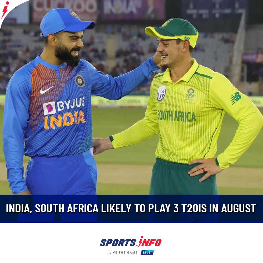 The series will go ahead post-pandemic if the government of both countries gives their approval. . . . #INDvSA #CSA #COVID19 #BCCI #T20I #SportsDotInfo<br>http://pic.twitter.com/ggntrKQP5I